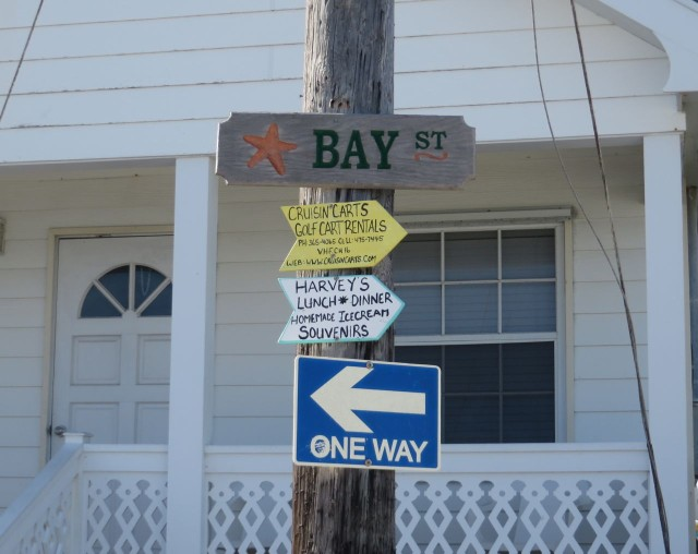 Green Turtle street signs