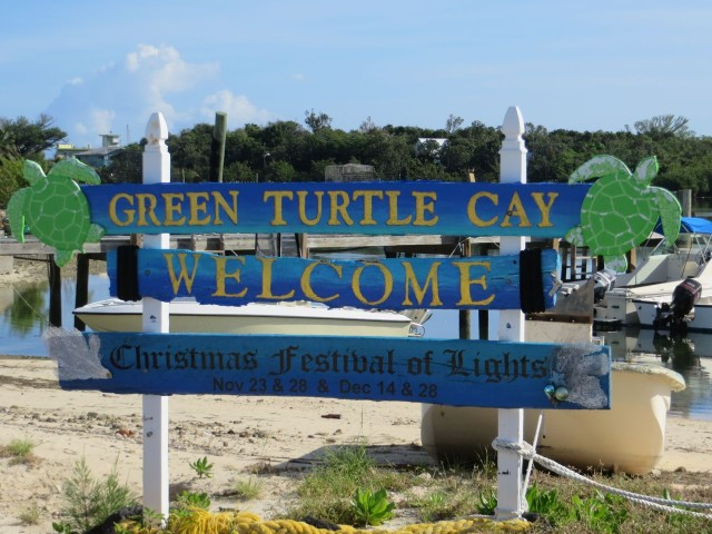 Another Green Turtle Cay welcome. People were truly welcoming and friendly everywhere we went.
