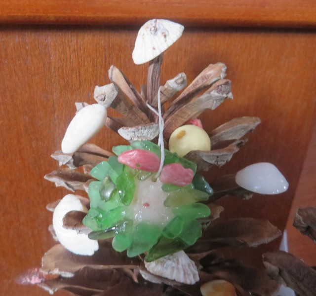 Our little sea glass Christmas wreath