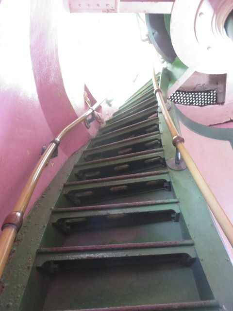 The next set of stairs, steeper, for the final climb.