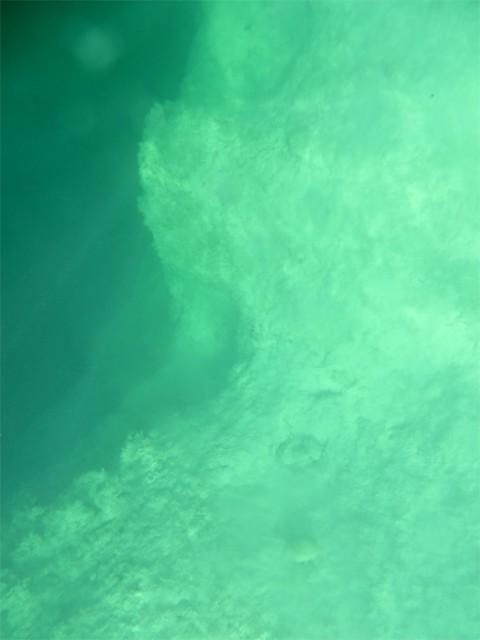 The edge of the blue hole