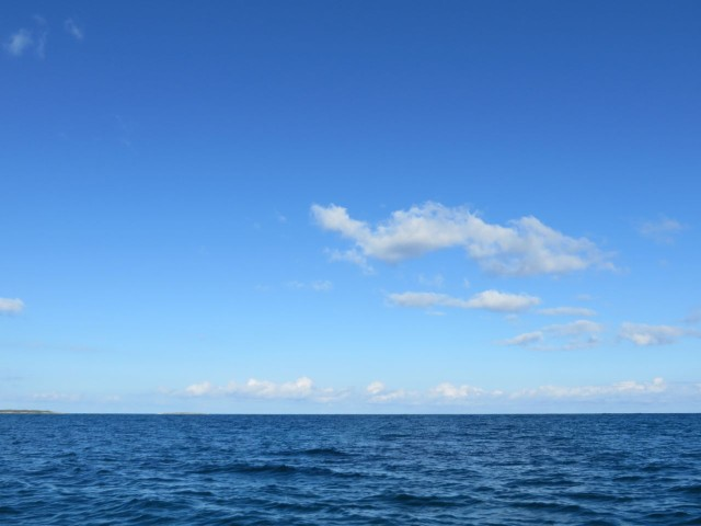We could see straight out to the Atlantic Ocean when we passed North Bar Channel