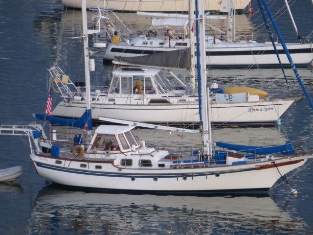 One more photo of Kindred Spirit in the harbor- This is a rare view of her for us.