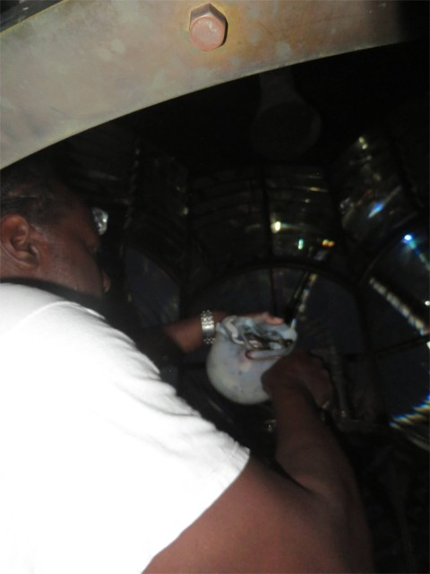 Jeffrey is preparing the mantle