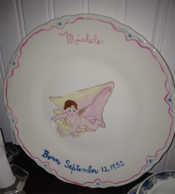 My hand-painted baby plate