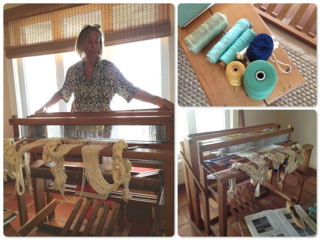 Tracy is an accomplished weaver. Her enthusiam and passion for the craft left me very interested in it.