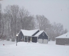 Our house in Connecticut --brrrrrrr!