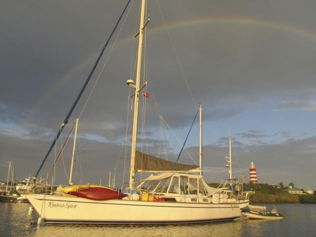 Under a Hope Town rainbow