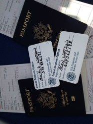 "Passports and ""Local Boaters option"" cards. Just a phone call takes care of customs."