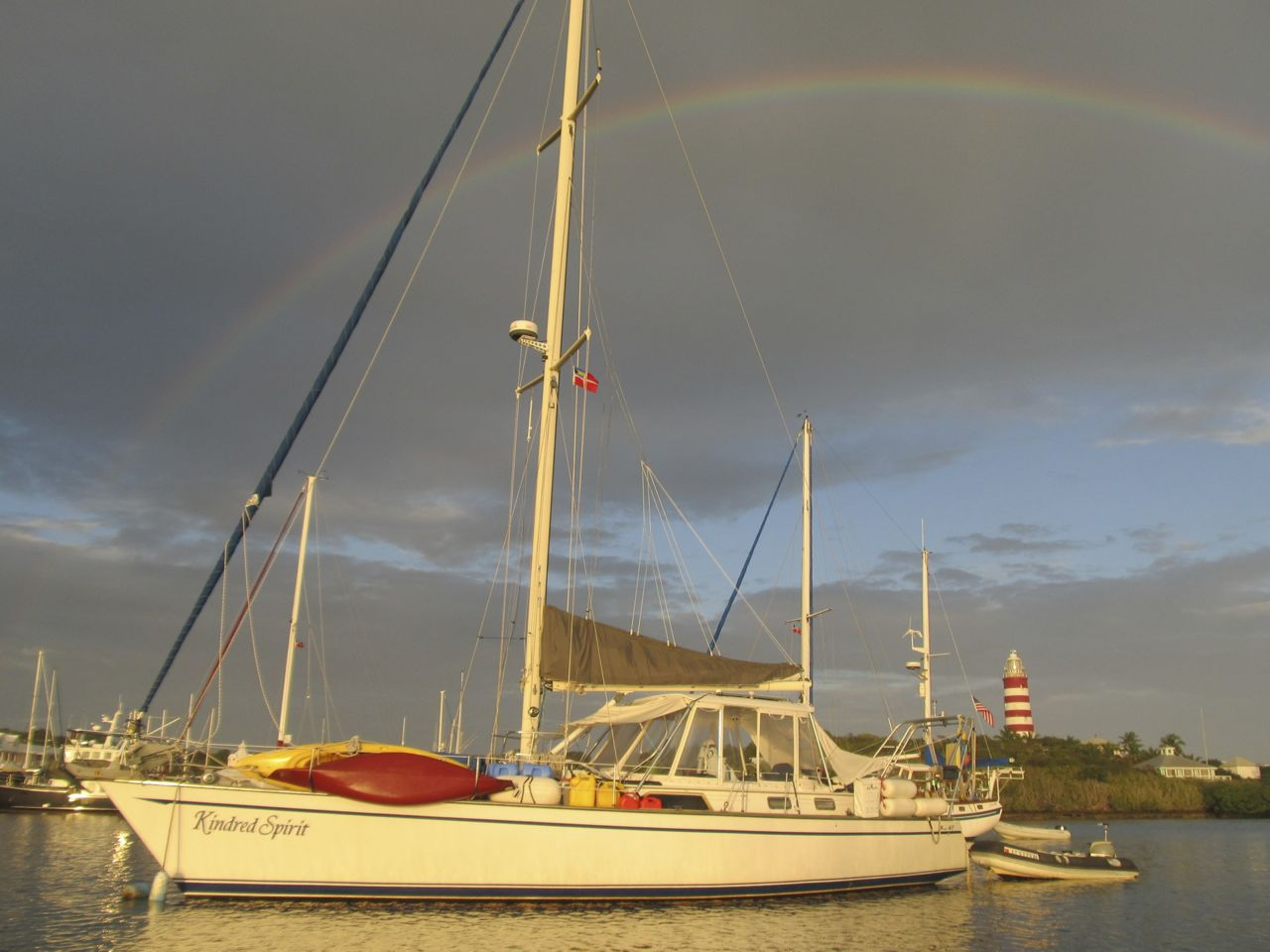 May there always be a rainbow wherever she sails