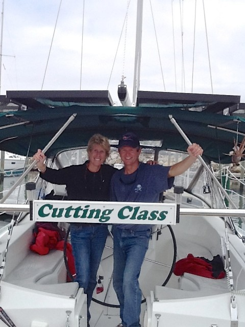 Al greeted Cutting Class at the dock when they returned home. Welcome back!