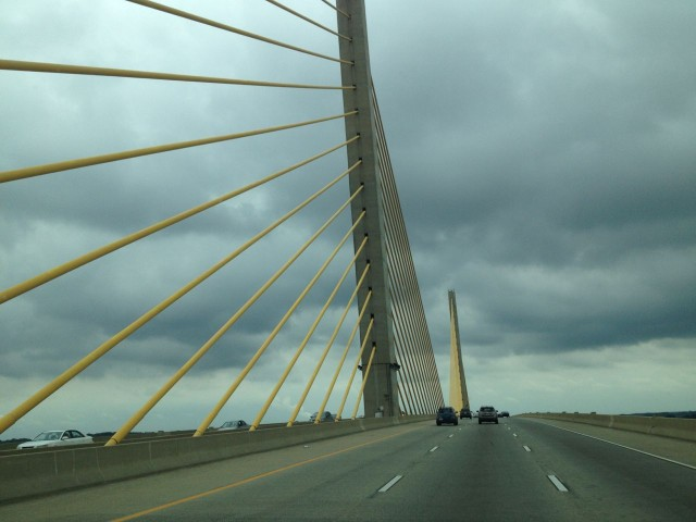 ThIs bridge goes over the Chesapeake & Delaware Canal. Next time we are here, we will be under it!