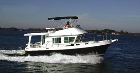 An Albin 36 Express Trawler