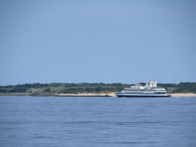 The Cape May Ferry makes the run across the lower Delaware Bay from Lewes, Delaware, at Cape Henlopen.