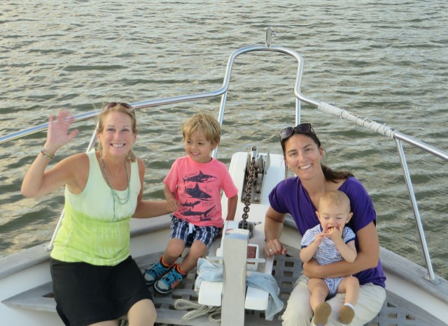 Hanging out on the bow