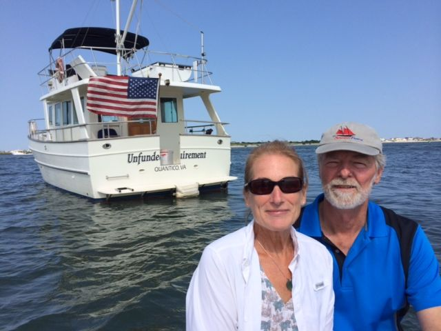 Our first picture with our new boat. Thank you, Mary Marie! Oh my, we just have to change that name as soon as possible!!