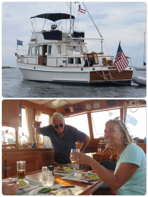 ~ Miss Maggie on the mooring ~ A toast from Bruce