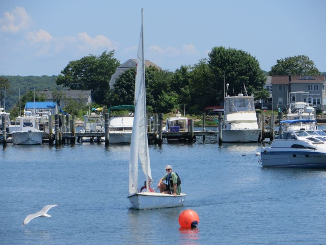 Al still gets a chance to do some sailing during the SYC Dock Races.