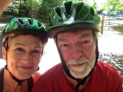 Bike helmets make such a fashion statement.