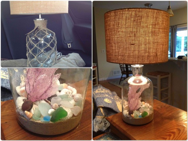 Our glass lamp project