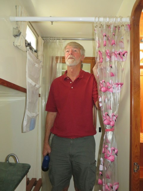 Yeah! Al has enough headroom in the shower.