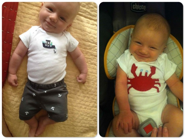 9 week old Caleb is already anticipating our next boat, and seems to know we are heading to the Chesapeake to get it.