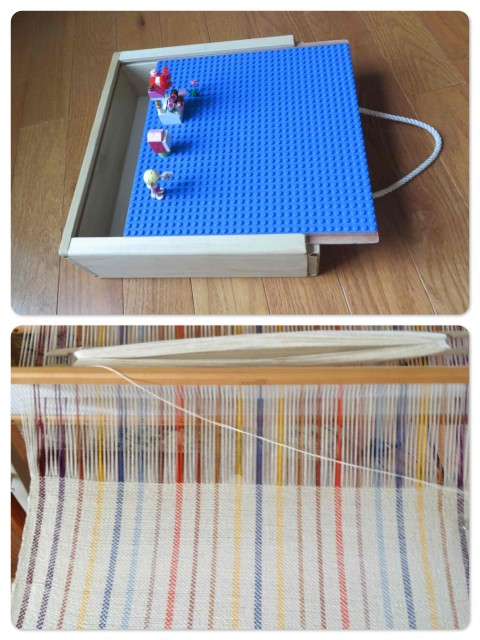 ~The Lego carry box for Aaron ~ I'm still trying my hand at weaving