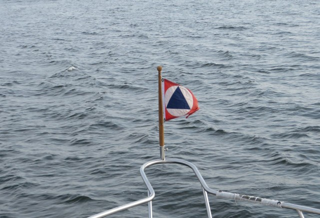 We found a little flag pole for the bow so we were able to fly our Shenny burgee!