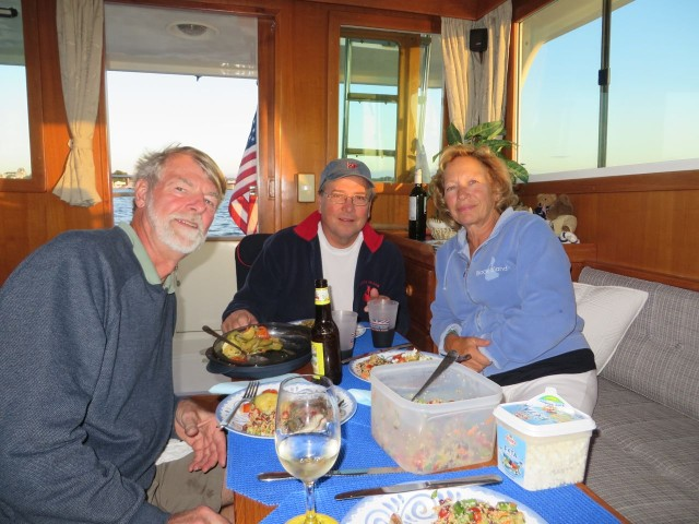 Our first dinner guests aboard the Mariner Orient 38!!