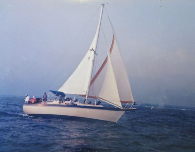 1994-1997 1977 Irwin 37 Center Cockpit sloop, named Patience – My favorite Watson boat story. Approximately 600 Irwin 37s were built (1971-1982) undergoing numerous changes until production ended in 1982. They are slow, but roomy boats.