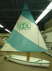 "A better look at the ""snarky"" KOOL boat, from an ad."