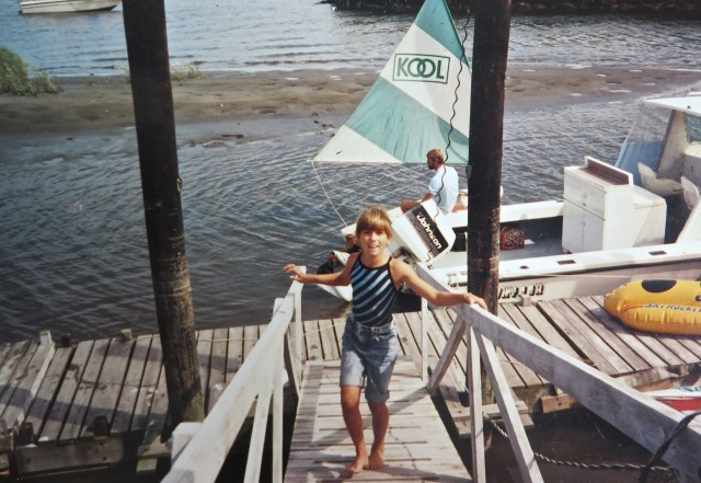 Look in the background - Al is in the KOOL boat. Alicia (about age 9) is walking up the boat ramp.