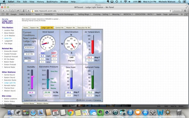 MySound weather station website