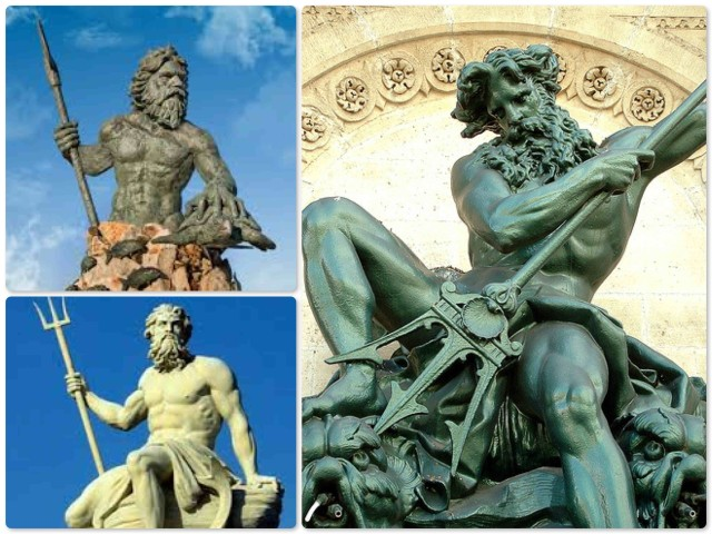 Neptune (the Roman name) or Poseidon (the Greek name) looks quite fearsome. Best not to anger that guy!