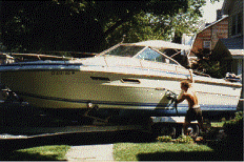 Al bought this 24 ft Sea Ray (Special K) together with high school friend and business partner and kept it in Milford. The manifold was overheating so they brought the boat to a repair place. While there, they saw a 26-foot Sea Ray and traded the 24 for the 26.