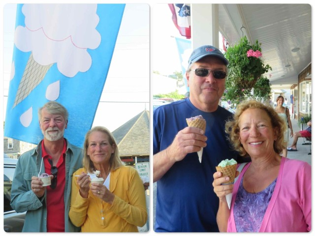 No visit to Watch Hill is complete without a stop at St. Clair Annex for homemade ice cream! Yum!