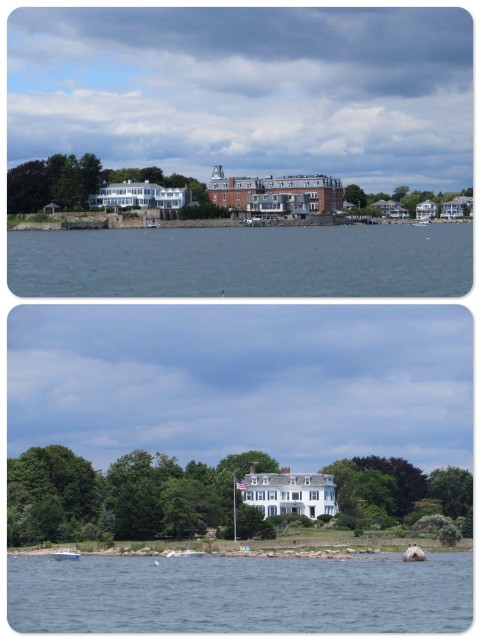 Just before turning into the channel, we pass Stonington.