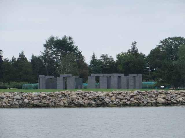 Interesting sight format eh mooring. Is this someone's  replica of Stonehenge ?