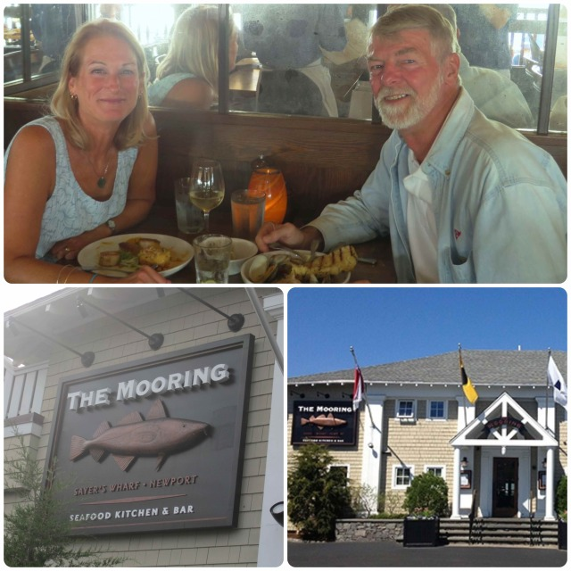 Birthday dinner at the Mooring Restaurant.