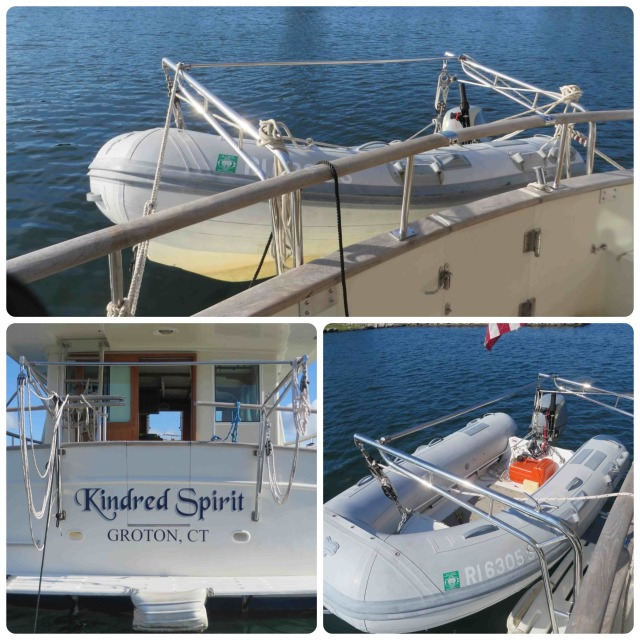 The davits are terrific. Once again we can deploy the dinghy quickly and easily.