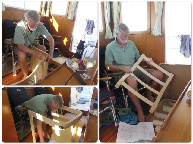 Al has always wanted an IKEA pang chair because it is so comfortable for his back. IKEA - you have to put it together yourself. No problem!
