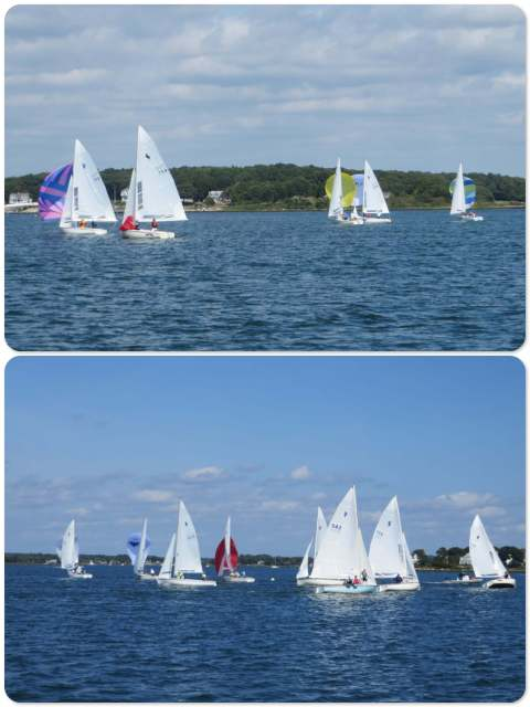 Watch Hill Yacht Club is still having sailing races. The spinnaker runs are always so colorful.