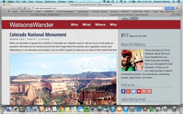 Tim and Amanda's Watsons Wander blog.