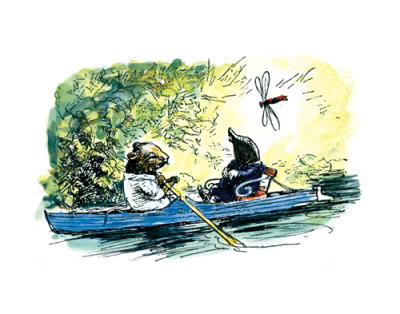 """Believe me, my young friend, there is nothing - absolutely nothing - half so much worth doing as simply messing about in boats.""  The Wind in the Willows by Kenneth Grahame,"