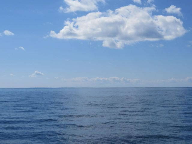 Blue skies and calm seas