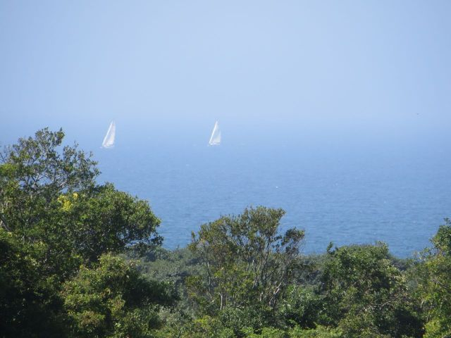Looking out to Block Island Sound, we could see sails.