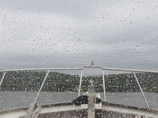 Just as we reached Hamburg Cove, north of Essex, the gray and cloudy day added  wet to its weather description.