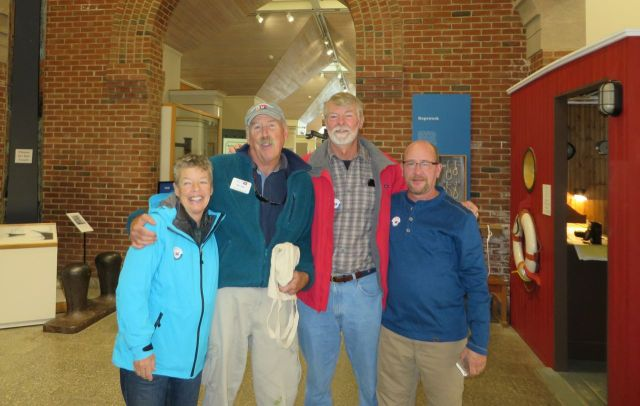 Ready to tour the museum, inside and out. Laurie, Sam, Al, and Peter
