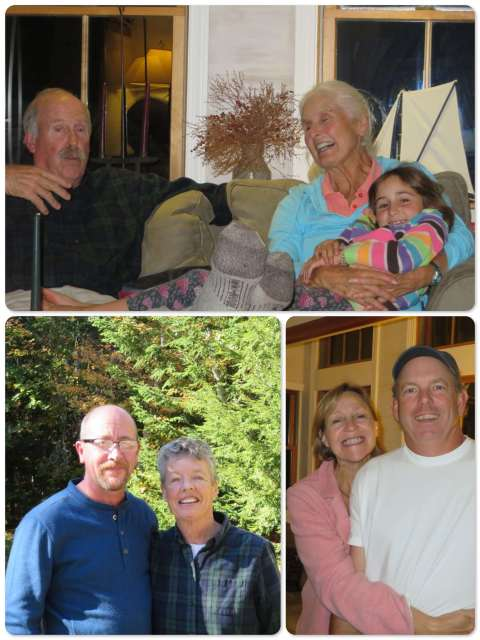 ~ Sam and Kayda with Cedar, their granddaughter ~ Peter and Laurie ~ John and Carol