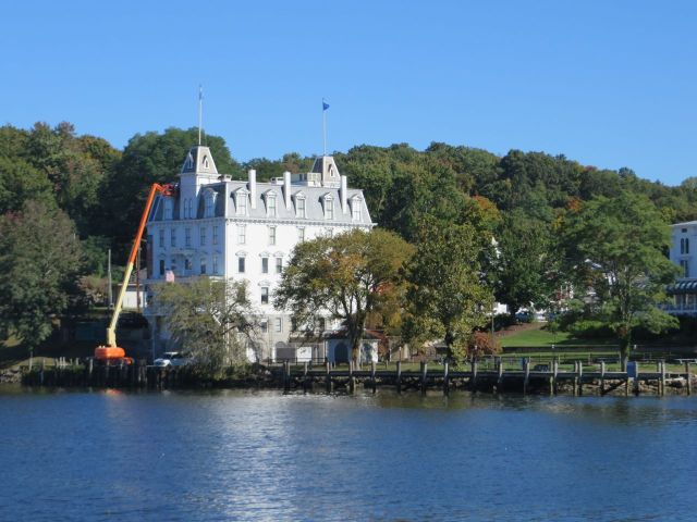 Goodspeed Opera House - looks like they are doing some work on the buidling.